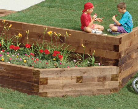 Diy wood timber retaining wall wooden pdf metallic wood for Wooden garden wall ideas