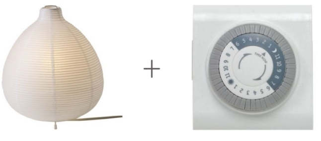 Ikea lamp and timer